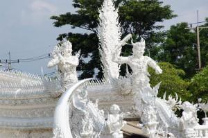Weisser Tempel nahe Chiang Mai bei Rai