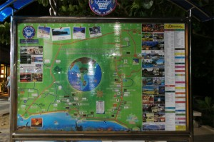 Stadtplan zur Orientierung in Krabi